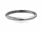 Half Moon 5mm Sterling Silver Bangle