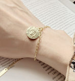 Gold Plated Sterling Silver Embossed Bracelet