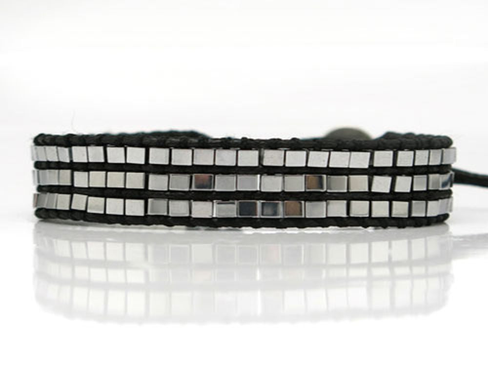 Hematite Wax Cord Bracelet - Essentially Silver Jewelry