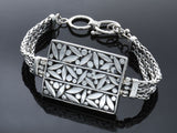 Balinese engraved sterling silver bracelet - Essentially Silver Jewelry