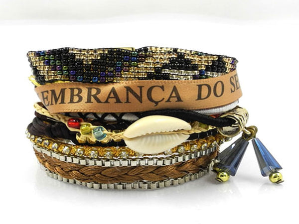 Brazilian Ipanema Magnetic Beaded Bracelet - Essentially Silver Jewelry