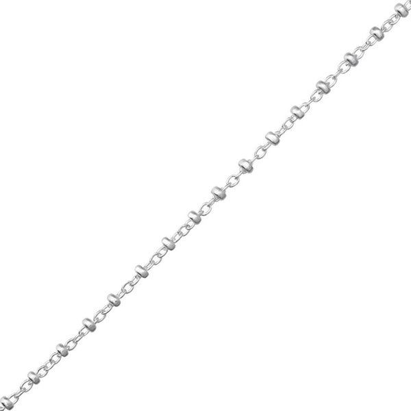 Cable Chain Sterling Silver with 2mm Balls - Essentially Silver Jewelry