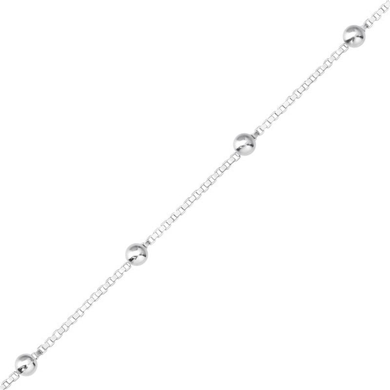 Box Chain Sterling Silver with 2mm Balls - Essentially Silver Jewelry