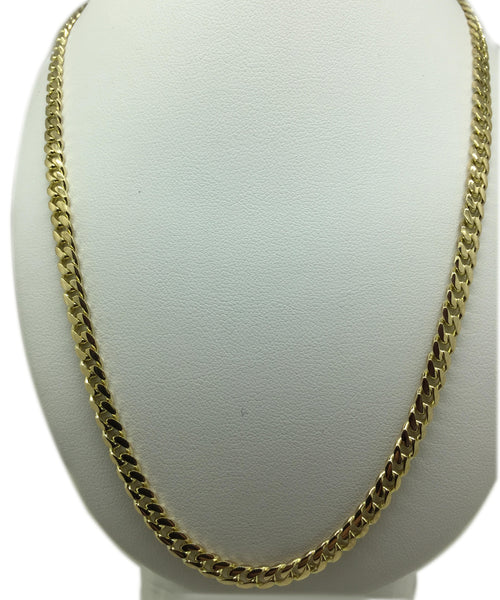 "9ct Gold Round Flat Curb Chain (20"")"