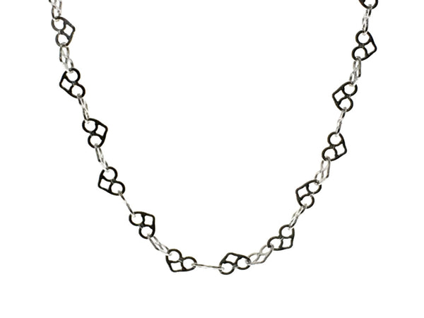 "Chain Heart Flat 3/400mm 16"" Sterling Sterling Necklace - Essentially Silver Jewelry"