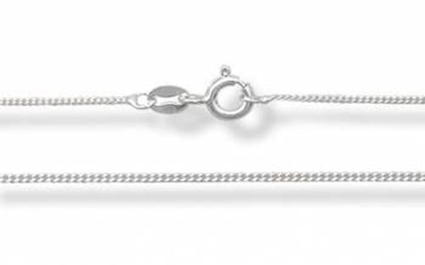Chain Curb Sterling Silver Necklace
