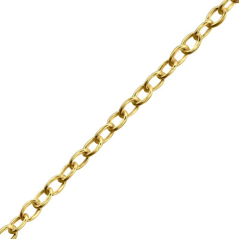 Cable Oval 1mm Gold PlatedSterling Silver Chain 41cm (16 inches) - Essentially Silver Jewelry