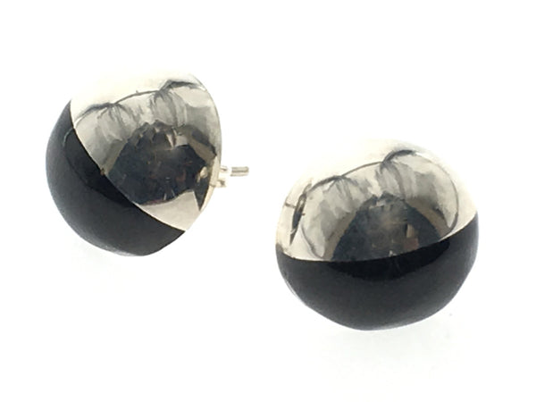 Onyx .925 Sterling Silver Stud Earrings - Essentially Silver Jewelry