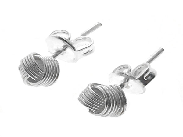 Knot 6mm Wire Sterling Silver Earrings - Essentially Silver Jewelry