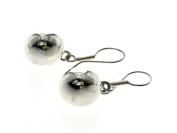 Ball 10mm Drop Sterling Silver Earring - Essentially Silver Jewelry