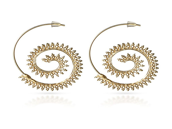 Bijou Round Spiral Drop Earring - Essentially Silver Jewelry