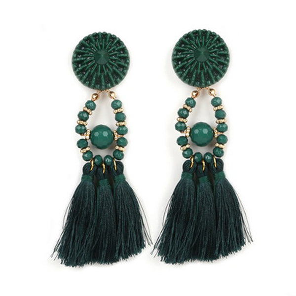 Tassel Fashion Green Earrings