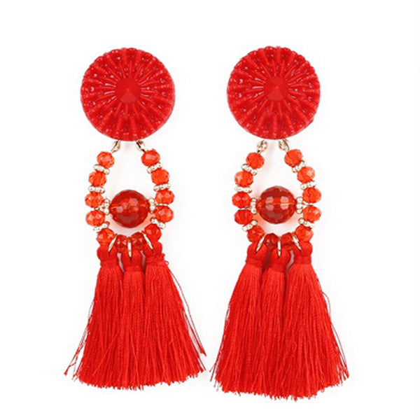 Tassel Fashion Red Earrings
