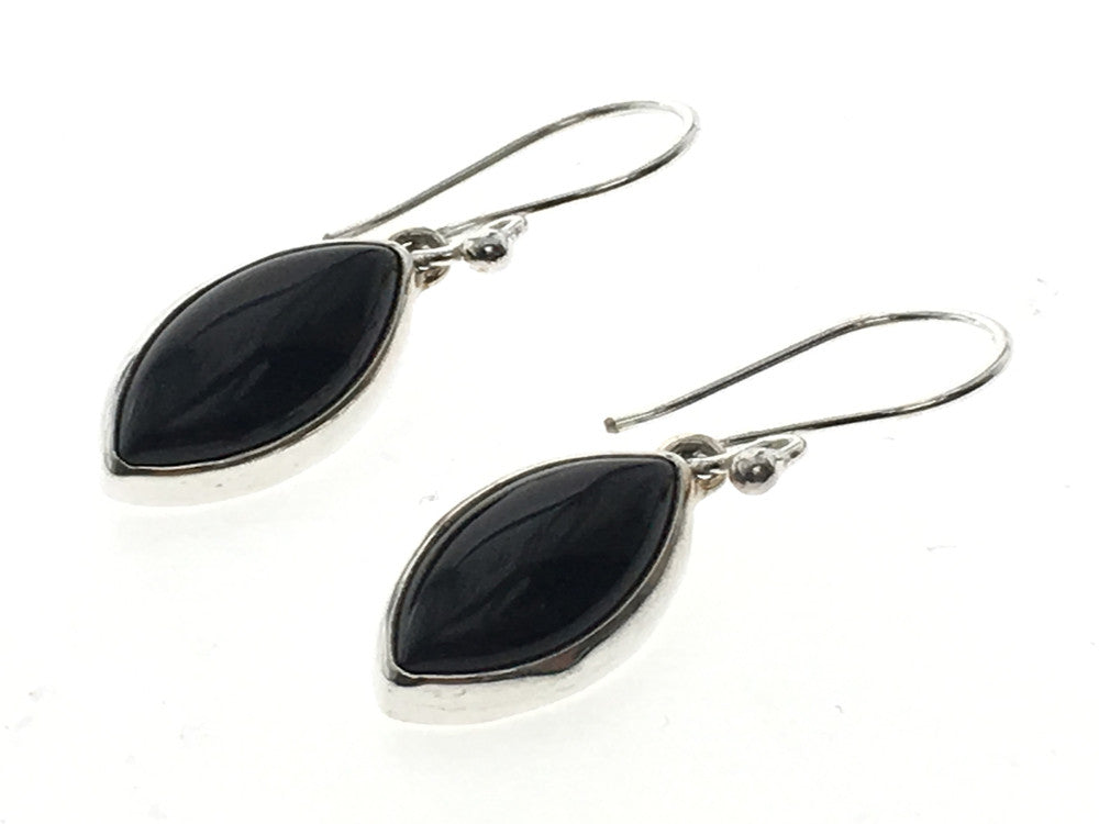 Onyx Teardrop .925 Sterling Silver Earring - Essentially Silver Jewelry