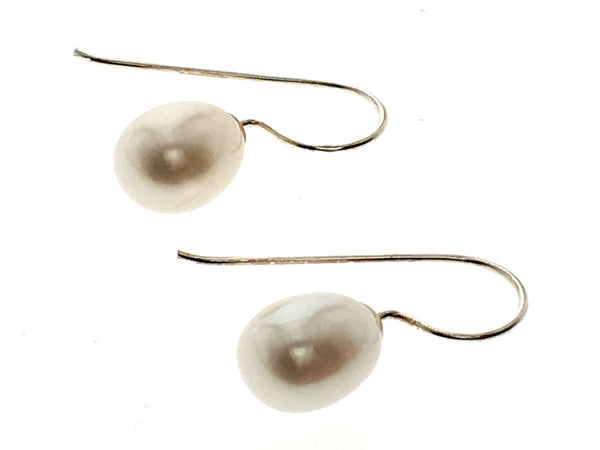Pearl 7mm Sterling Silver Drop Earring - Essentially Silver Jewelry