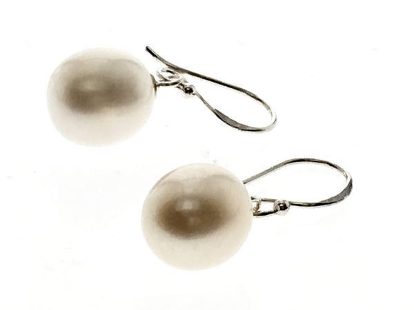 Pearl 10mm sterling silver drop earring - Essentially Silver Jewelry