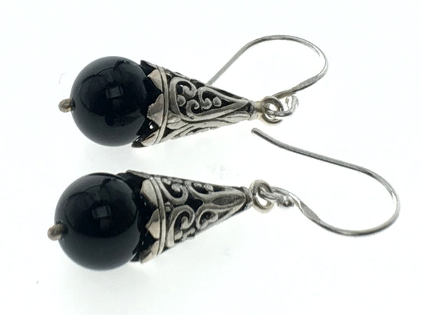 Onyx Sterling Silver Earrings