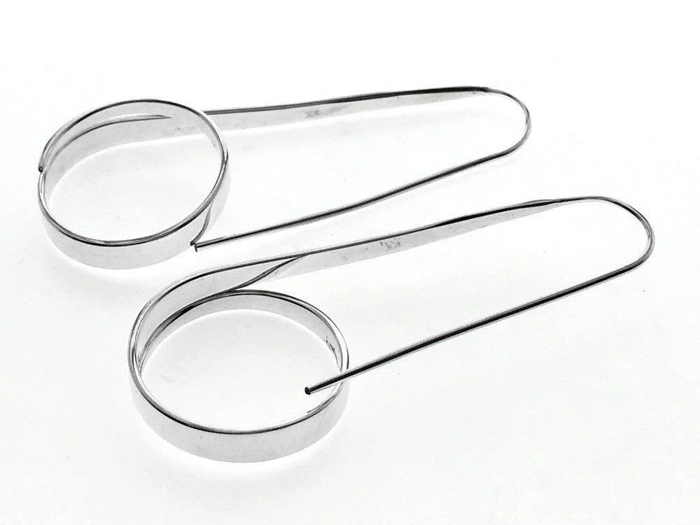 Hooped Paperclip 20mm Sterling Silver Earrings - Essentially Silver Jewelry