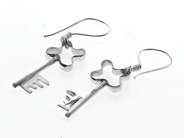 Key Sterling Silver Earring - Essentially Silver Jewelry