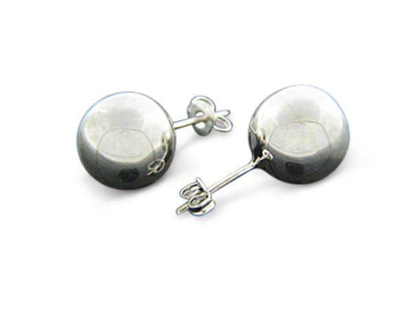 Ball 10mm Stud Sterling Silver Earrings - Essentially Silver Jewelry