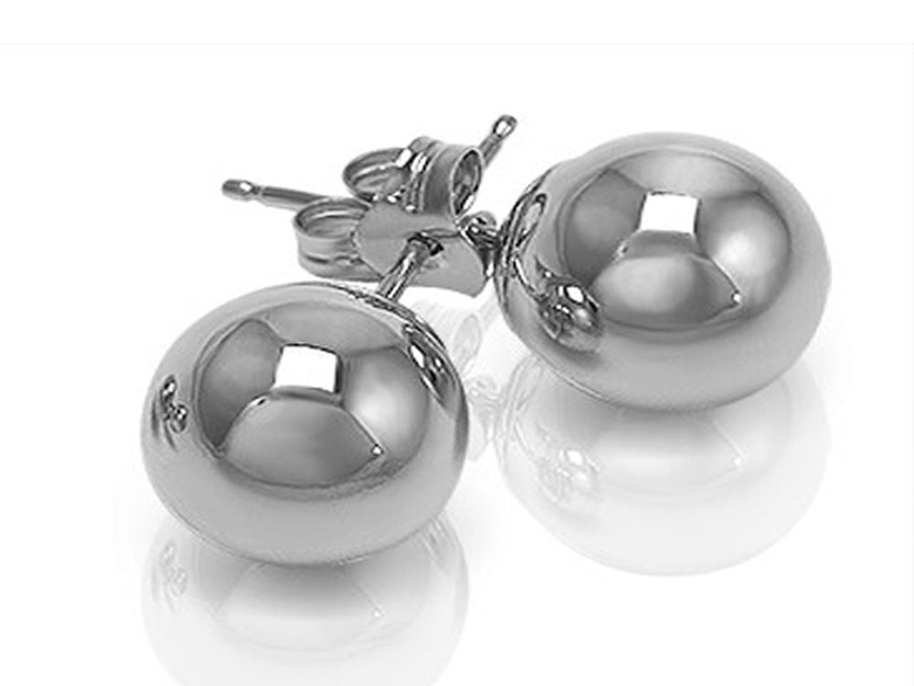 Ball 12mm Stud Sterling Silver Earrings - Essentially Silver Jewelry