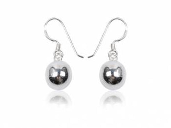 Ball Drop 8mm Sterling Silver Earrings