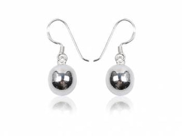 Ball Drop 10mm Sterling Silver Earring