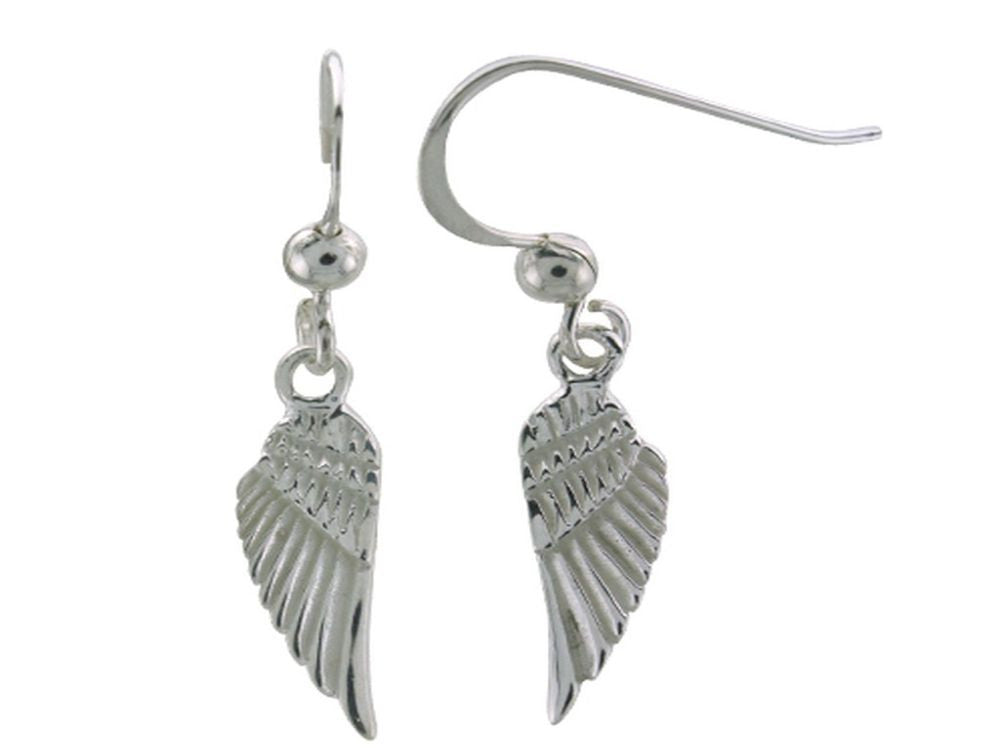 Angel Wing Sterling Silver Earrings - Essentially Silver Jewelry
