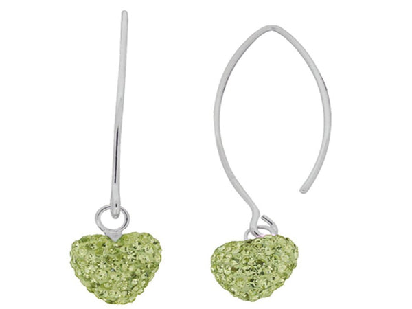 Crystal Yellow Heart Drop Sterling Silver Earring - Essentially Silver Jewelry