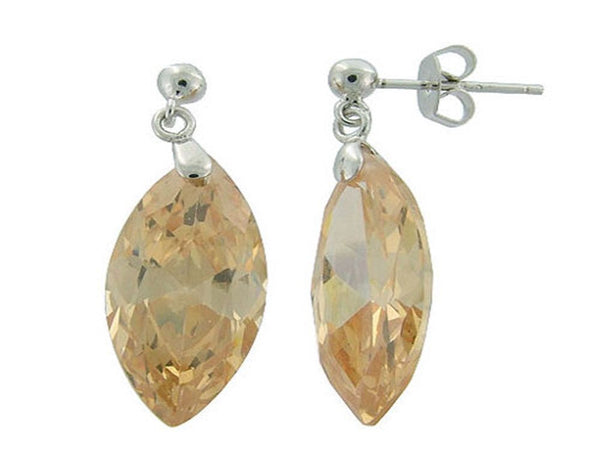 Cystal Drop .925 Sterling Silver Earring - Essentially Silver Jewelry