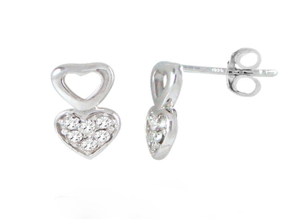 Heart Lilac Crystal .925 Sterling Silver Earring - Essentially Silver Jewelry