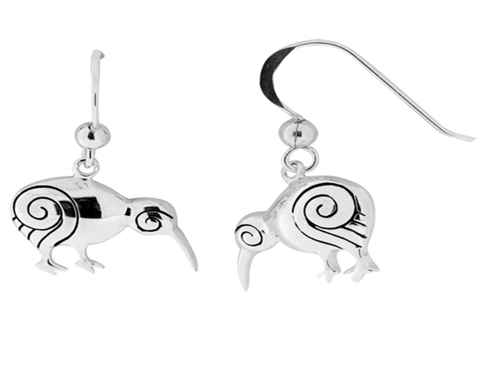 Koru Kiwi Sterling Silver Earring - Essentially Silver Jewelry