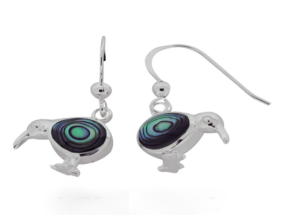 Paua Kiwi Sterling Silver Earrings - Essentially Silver Jewelry