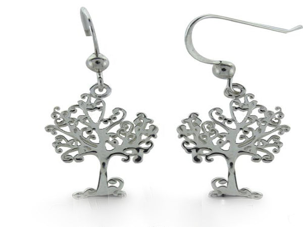 Tree of Life Sterling Silver Earrings - Essentially Silver Jewelry
