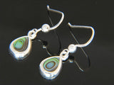Paua Teardrop .925 Sterling Silver Earrings - Essentially Silver Jewelry