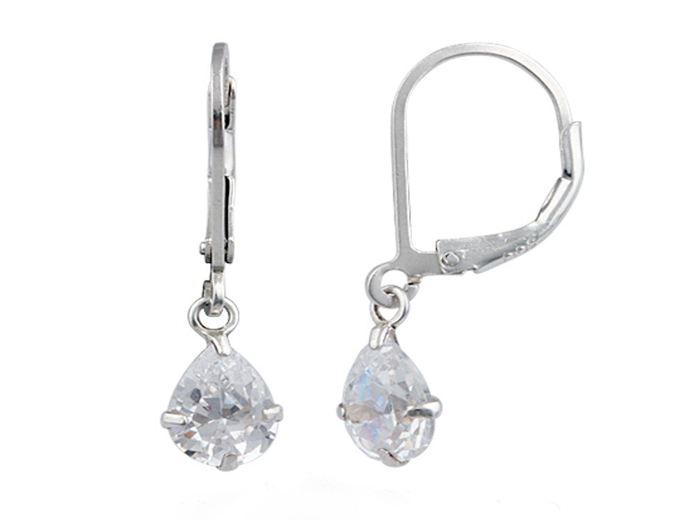 Crystal Drop Sterling Silver Earrings - Essentially Silver Jewelry