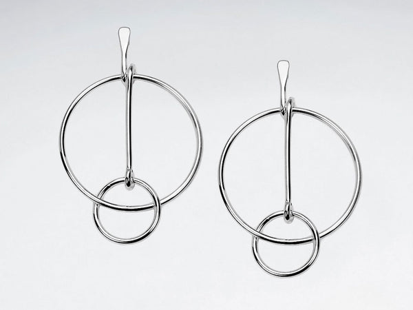 Openwork Sterling Silver Statement Earrings