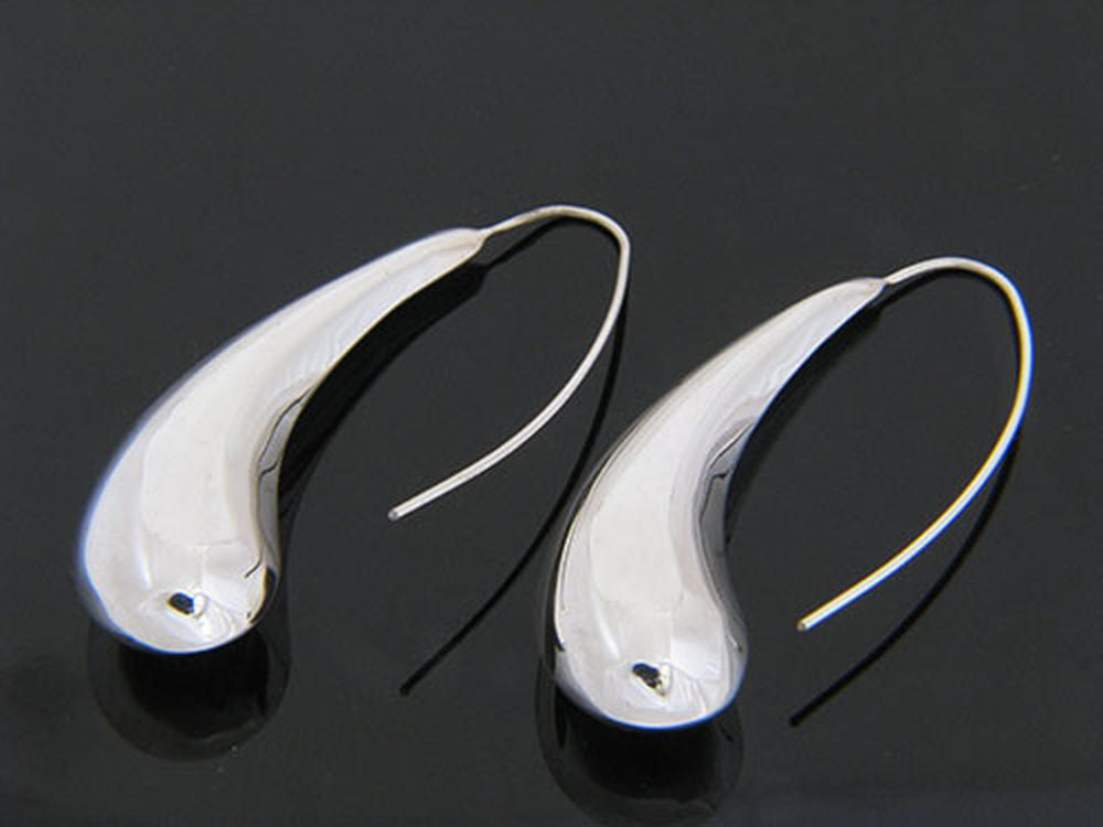 Teardrop Large .925 Sterling Silver Earrings - Essentially Silver Jewelry