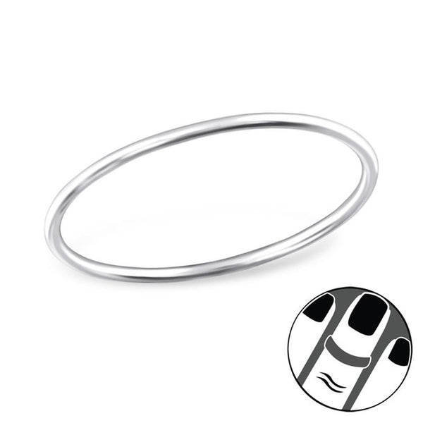 Midi Sterling Silver 0.8mm Band