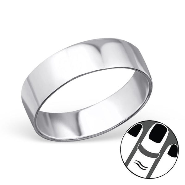Midi Plain Sterling Silver 1mm Ring