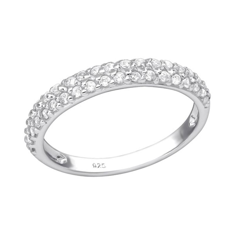 Cubic Zirconia Eternity Sterling Silver Ring - Essentially Silver Jewelry