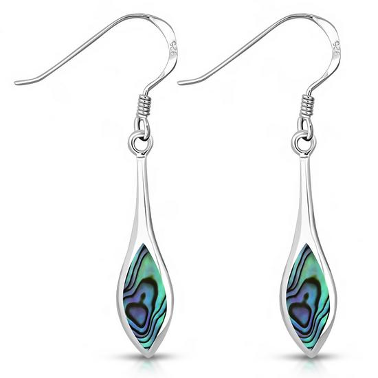 Paua Oval Sterling Silver Earrings
