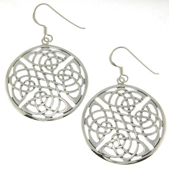 Celtic Large Sterling Silver Style Earrings