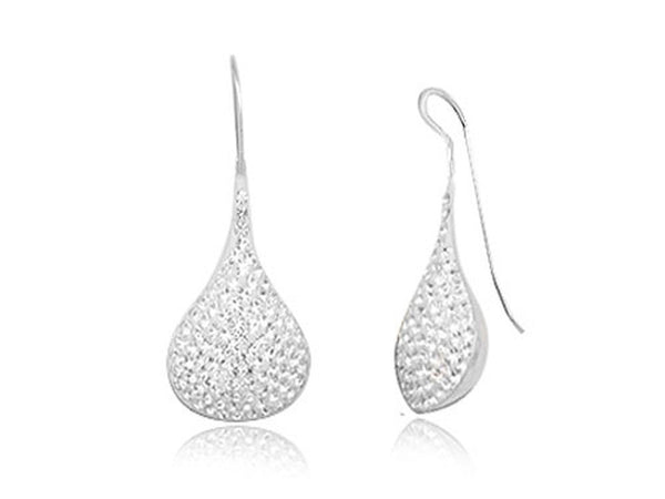 Crystal Teardrop .925 Sterling Silver Earring - Essentially Silver Jewelry