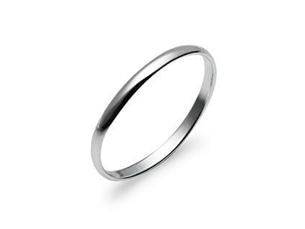 Half Wire 2mm Sterling Silver Band