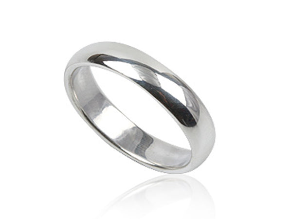 Plain Half Moon 5mm Sterling Silver Band - Essentially Silver Jewelry