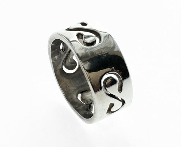 S See through Sterling Silver Band
