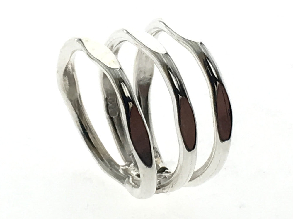 Spring Squared Sterling Silver Ring - Essentially Silver Jewelry
