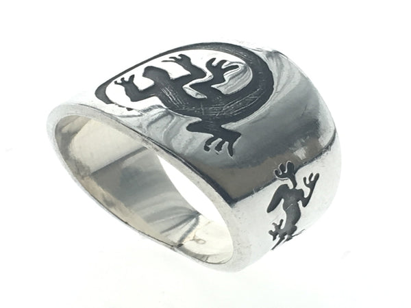 Lizard Tapered .925 Sterling Silver Band