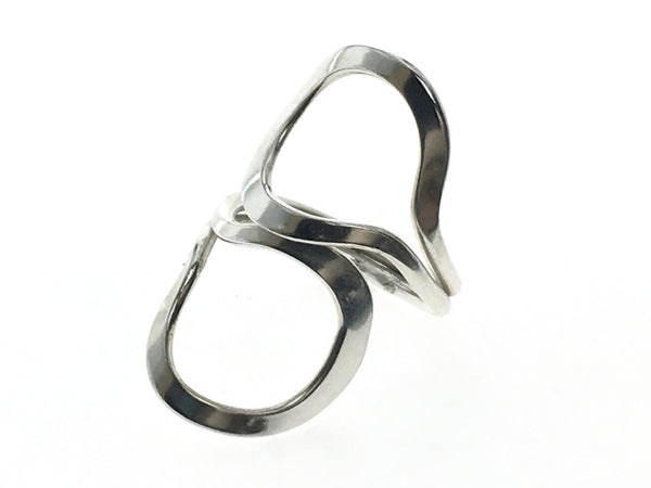 Looped Wrap .925 Sterling Silver Ring - Essentially Silver Jewelry